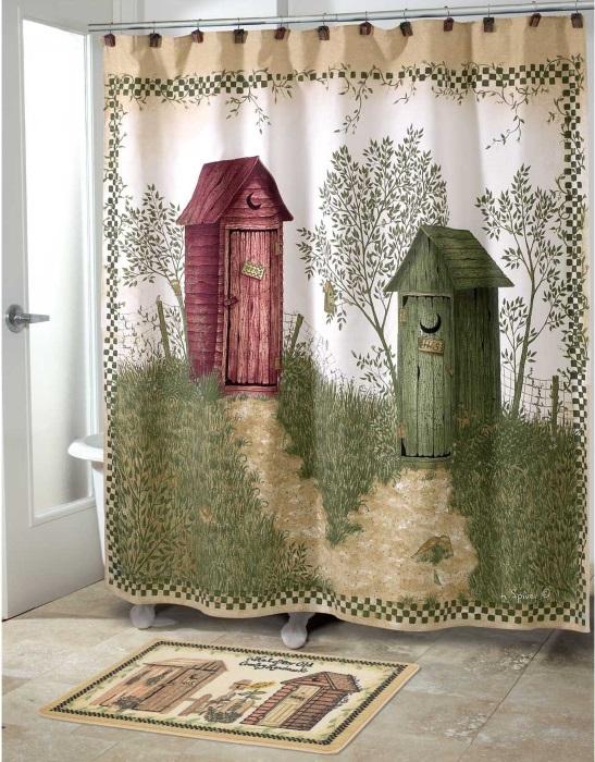Оригинальная шторка для ванной
