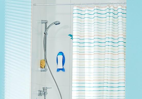 тканевая шторка для ванной