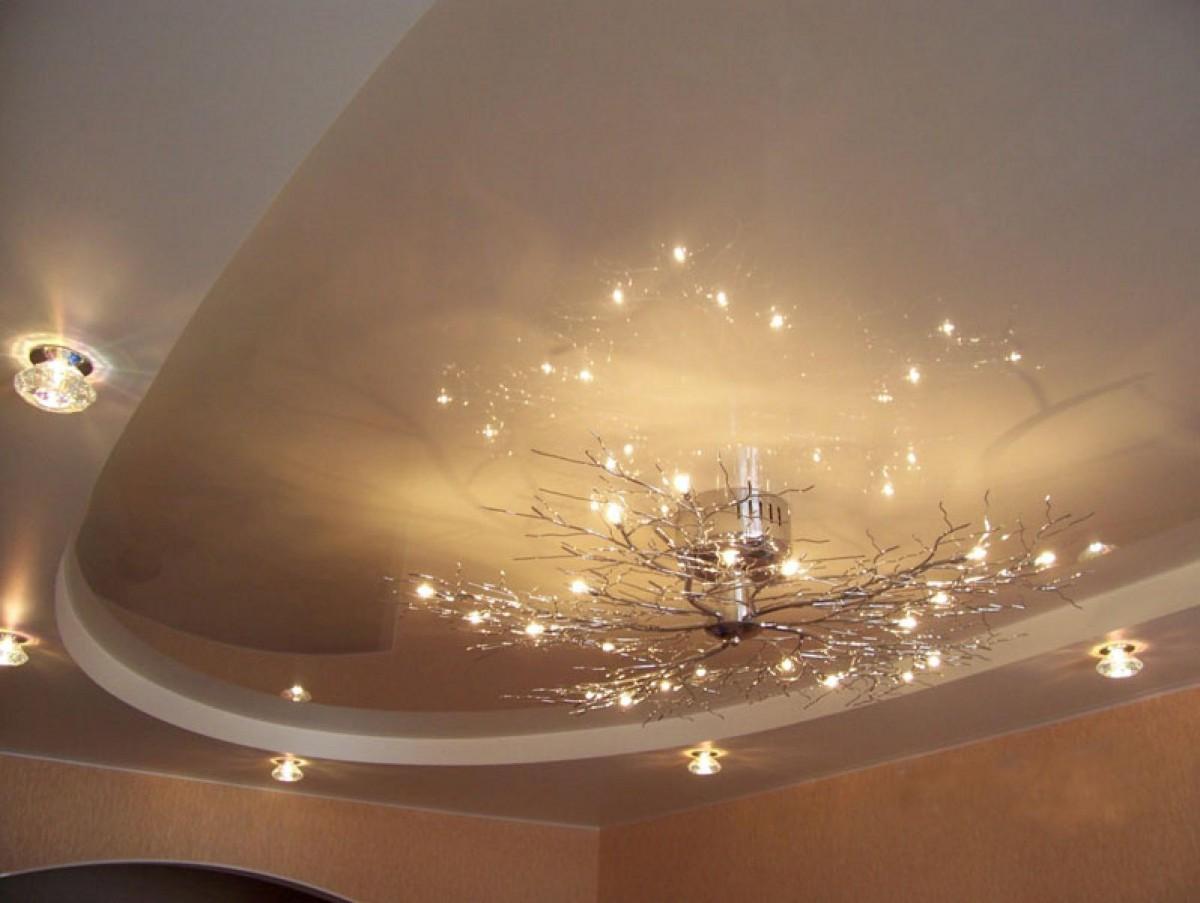 может быть дизайн натяжных двухъярусных потолков фото этом собеседник