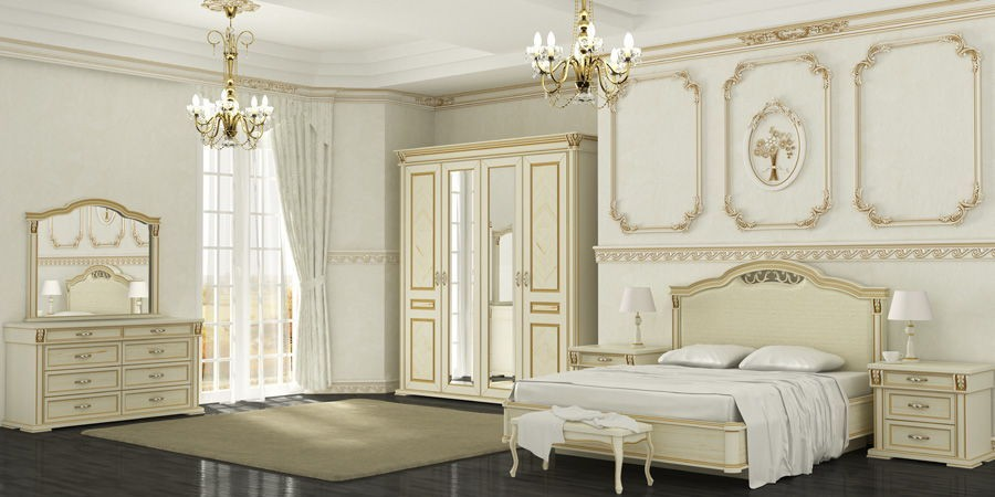Элементы классического стиля для спальни (2)