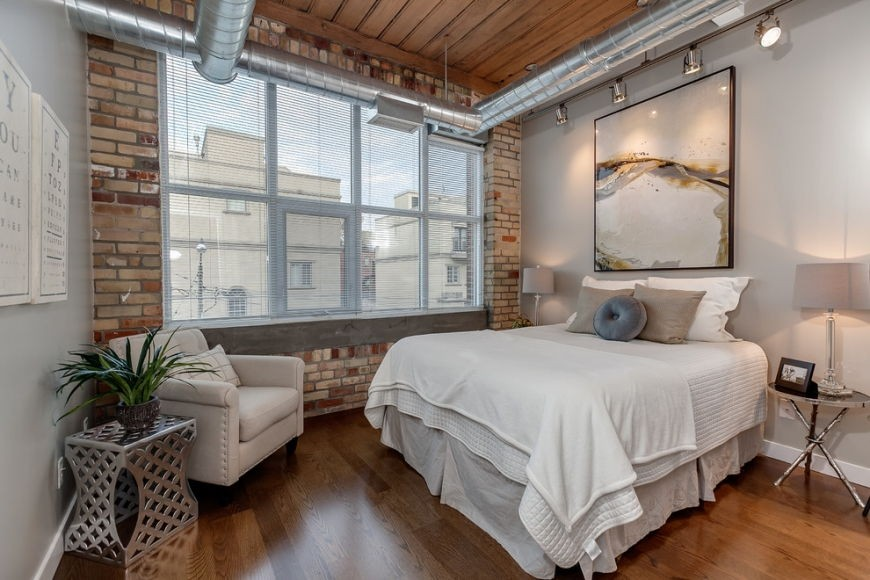 Основная цветовая гамма для спальни в стиле лофт (13)
