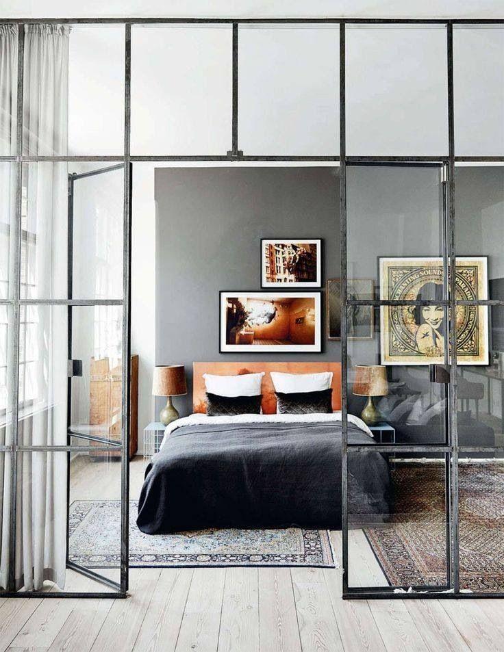 Планировка спальни в стиле лофт (13)