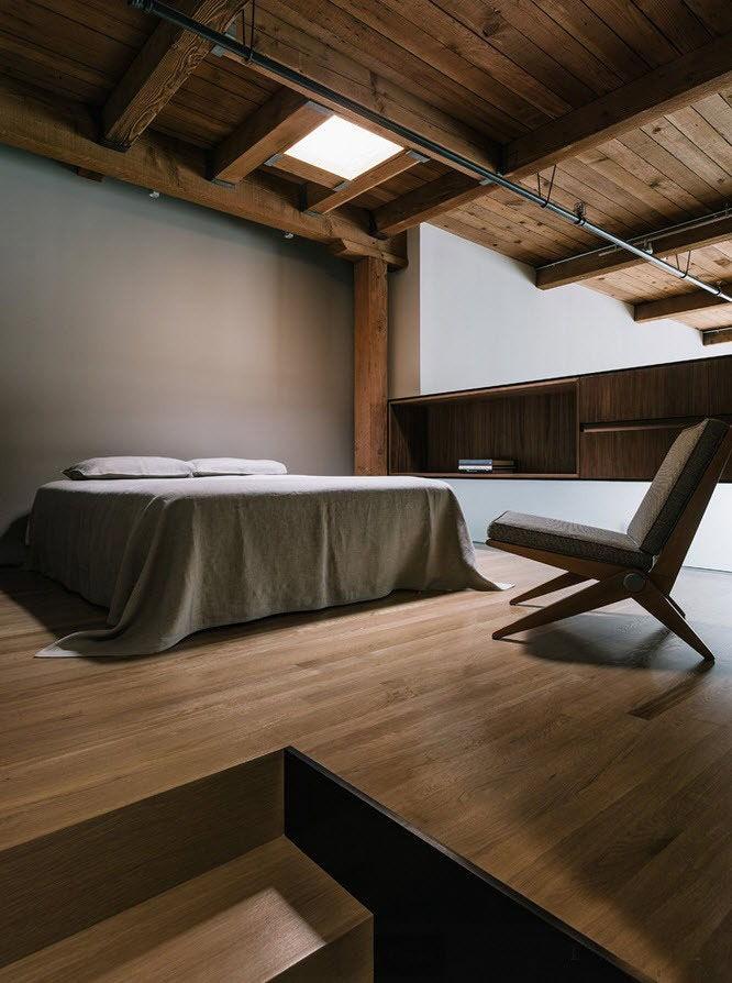 Дизайн спальни в стиле лофт 150+ фото