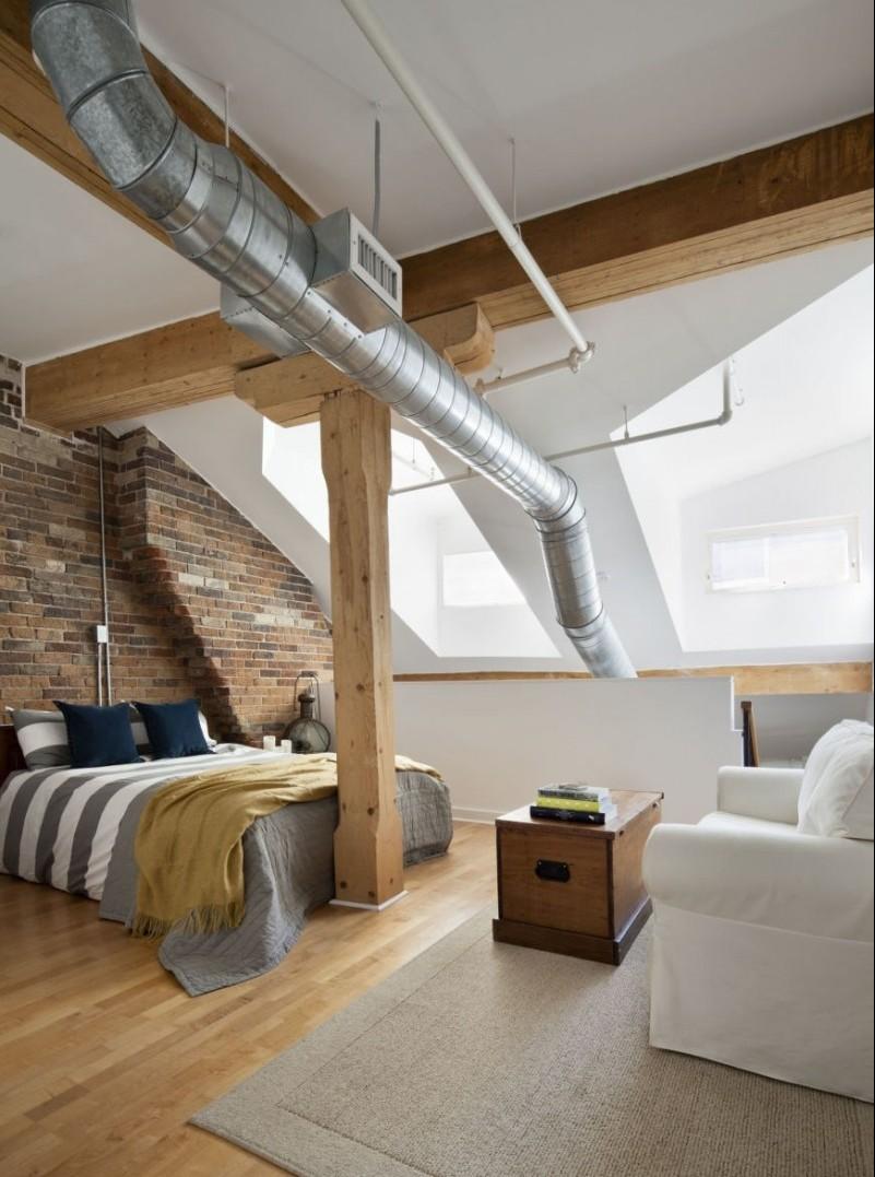 Планировка спальни в стиле лофт (3)