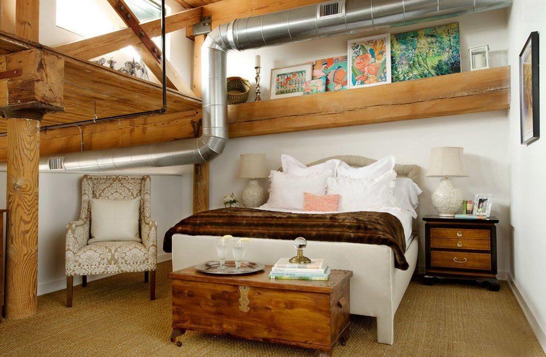 Планировка спальни в стиле лофт (9)