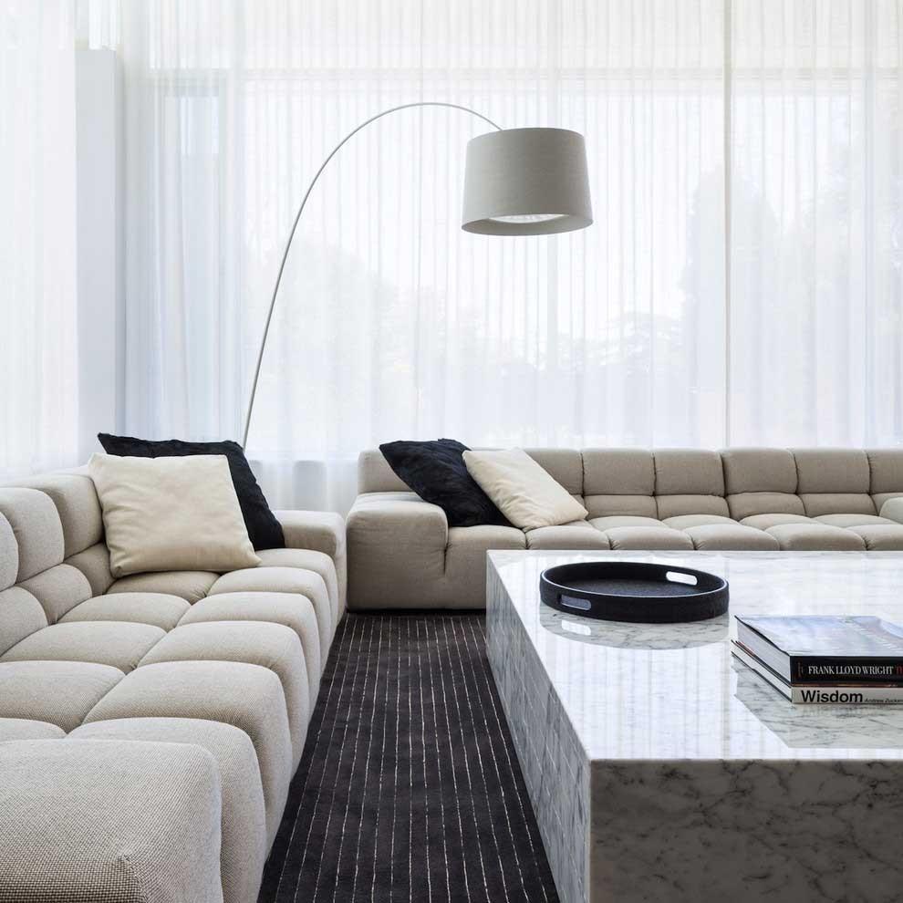 Шторы для зала в стиле минимализм (7)
