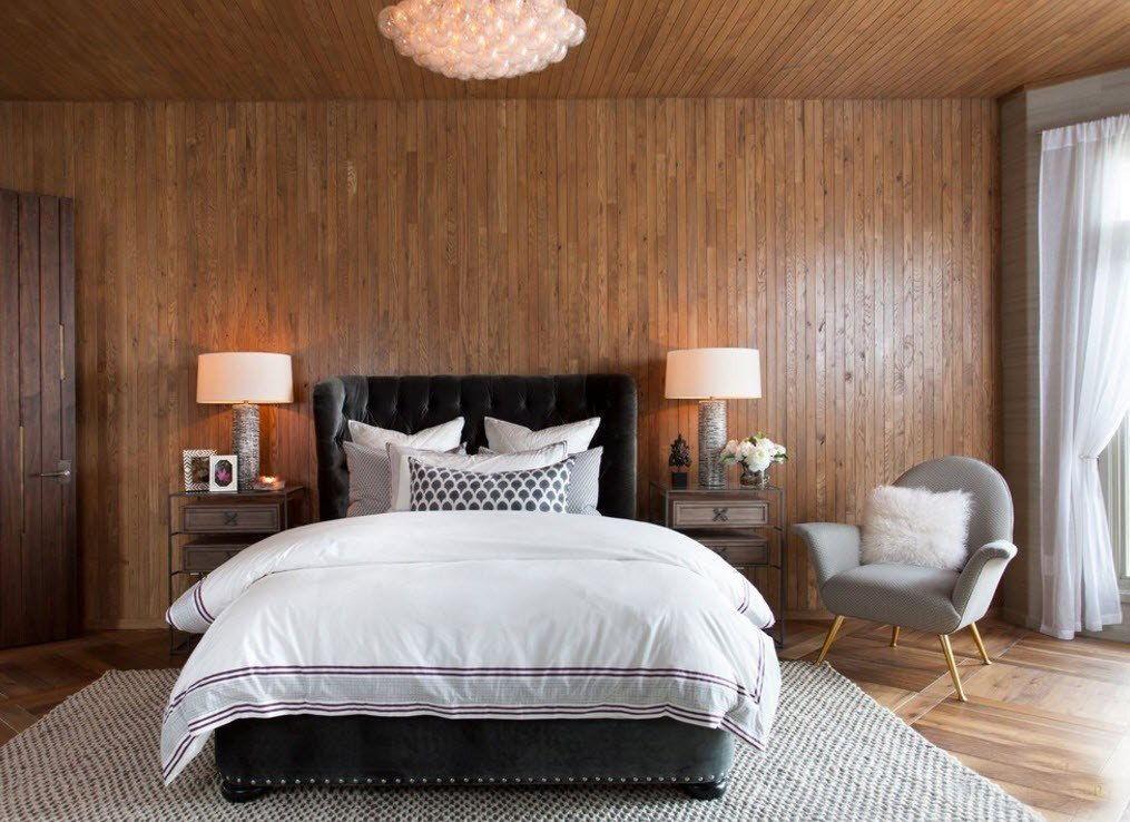 Спальни с деревянным декором 2018 (1)