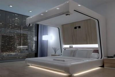 Спальня в стиле хай-тек 2018 (3)