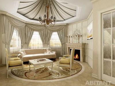 цвета и фактуры классической гостиной (1)