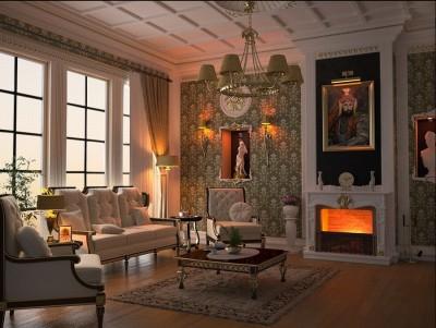 цвета и фактуры классической гостиной (17)