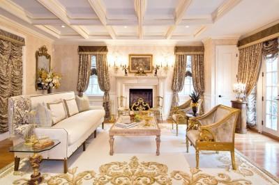цвета и фактуры классической гостиной (19)