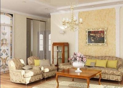 цвета и фактуры классической гостиной (8)