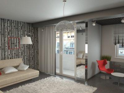 декорирование hi-tech гостиной (11)