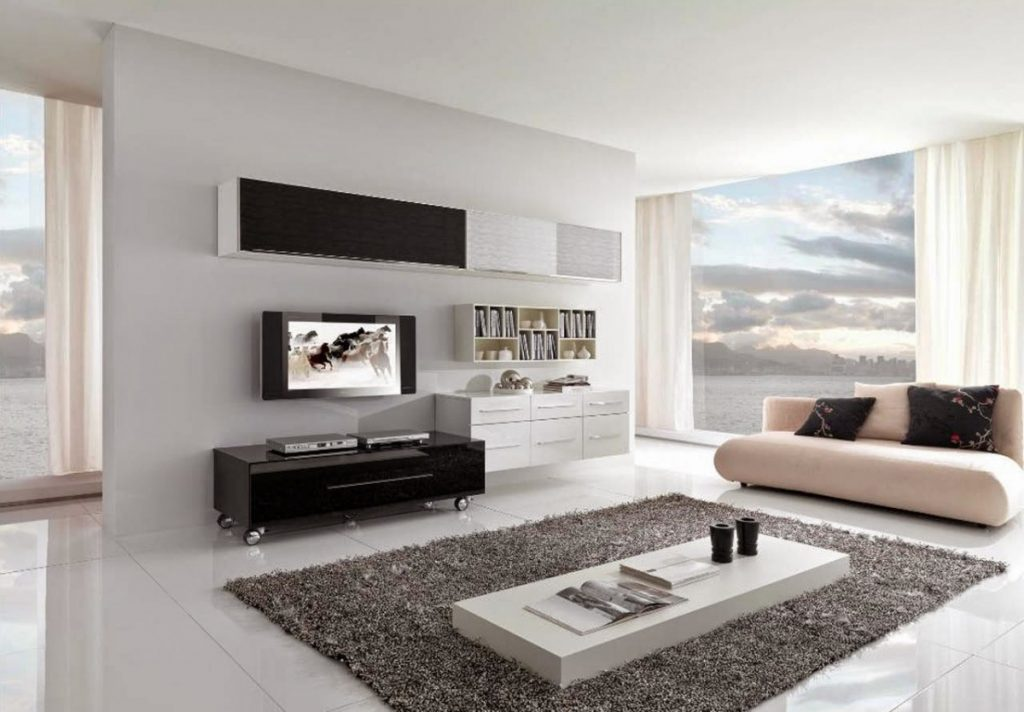 декорирование hi-tech гостиной (5)