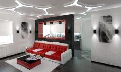 декорирование hi-tech гостиной (8)