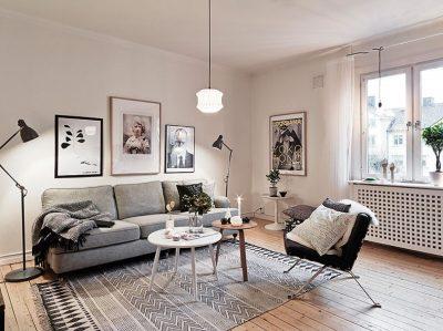 декорирование скандинавской гостиной (1)