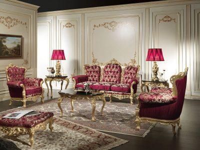 интерьер гостиной барокко (18)