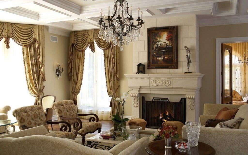 интерьер гостиной барокко (4)