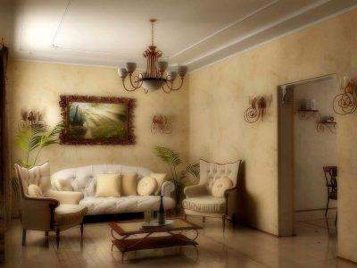 освещение гостиной кантри (5)
