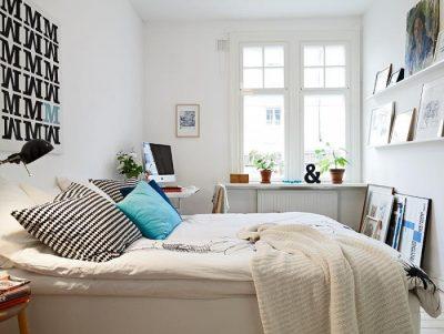 оформление компактной спальни (10)
