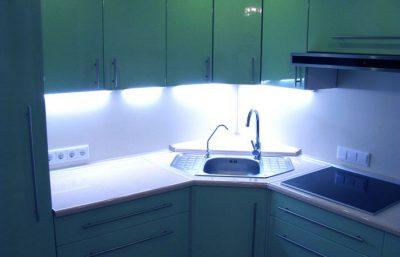 освещение hi-tech кухни (2)