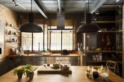 освещение кухни лофт (23)