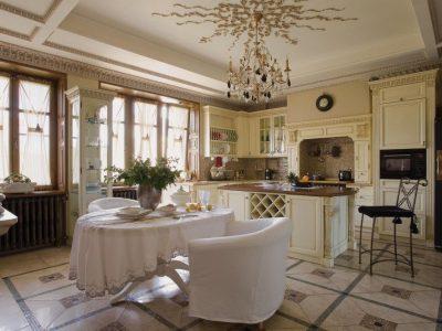 освещение в классической кухне (15)