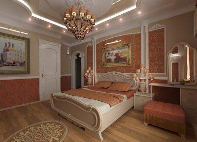 отделка спальни барокко (3)