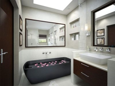 потолок в маленькой ванной (9)