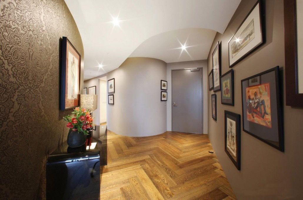 оформление угла в коридоре фото мебель