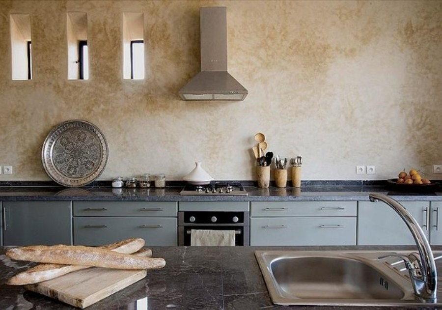 венецианская штукатурка фото для кухни небольшого перечня продуктов