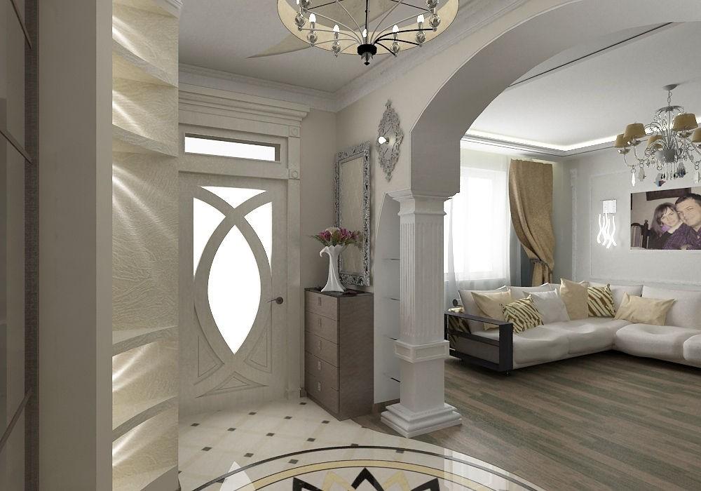 красивые арки из гипсокартона в гостиной фото они