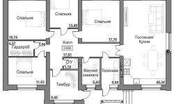 Планировка 1-этажного дома 150 кв.м.