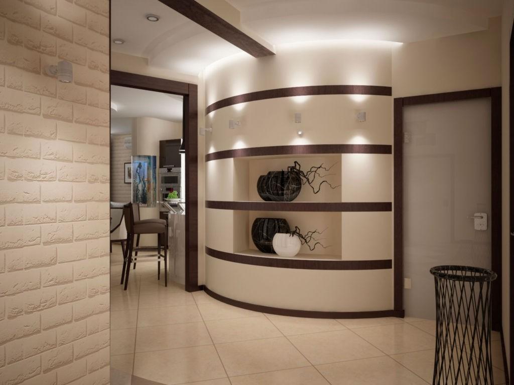 оформление угла в коридоре фото спальня
