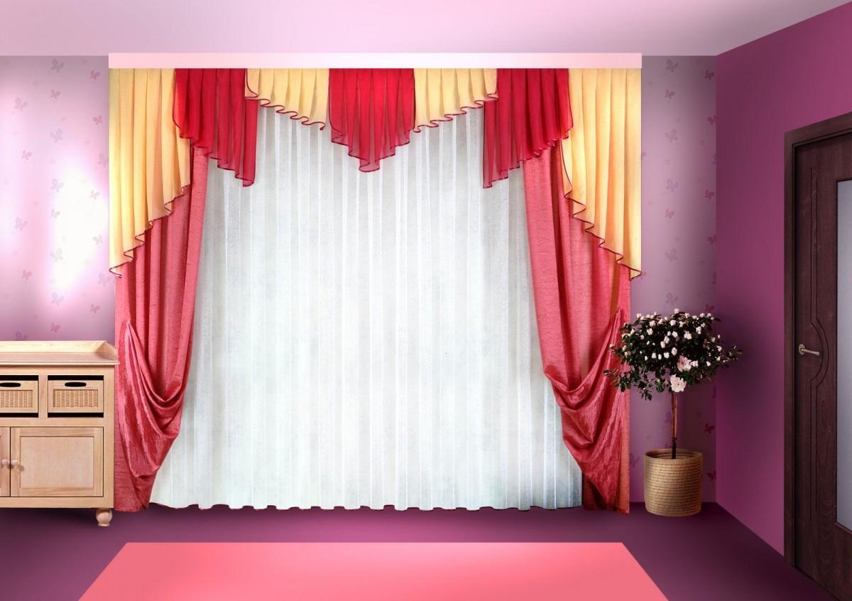 объект тюль и ламбрекены для спальни фото потолки
