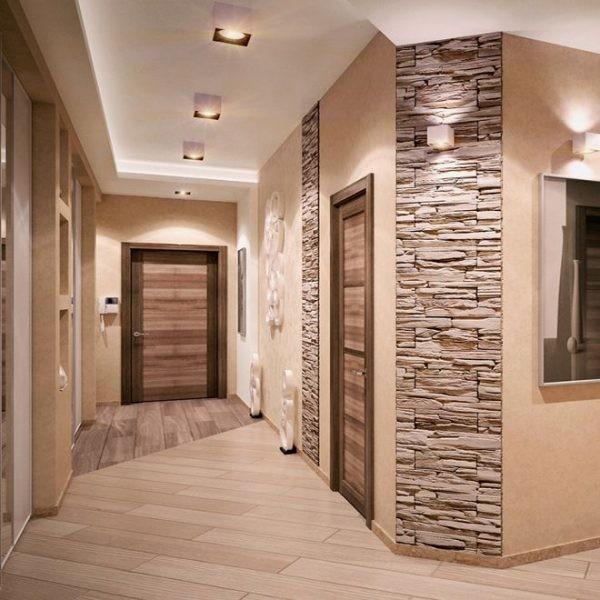 Правильная отделка стен в коридоре или прихожей