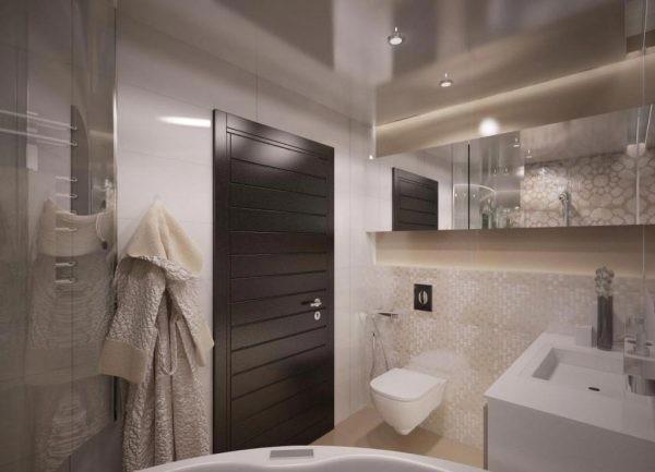 Пастельные тона в ванной комнате - Дача