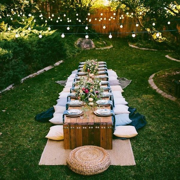 Украшаем летний сад для вечеринок: 10 идей
