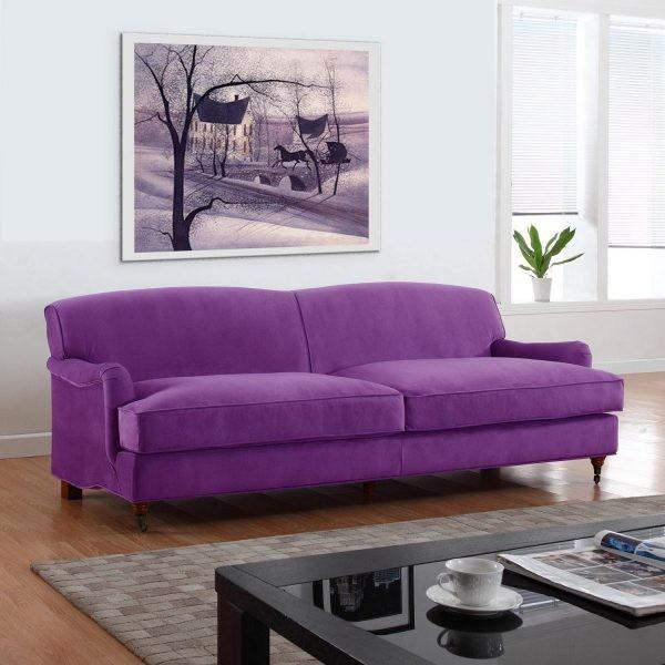Все о фиолетовом диване в интерьере что вы хотели узнать, но стеснялись спросить - Дача