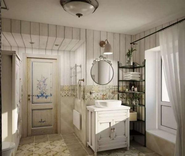 Ванная комнату в стиле Прованс – идеальное решение на многие годы