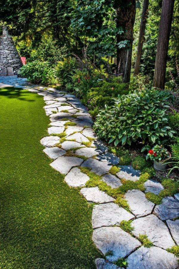 Садовые дорожки из камня: большое количество вариантов