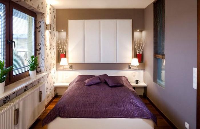 Спальни для маленьких комнат фото