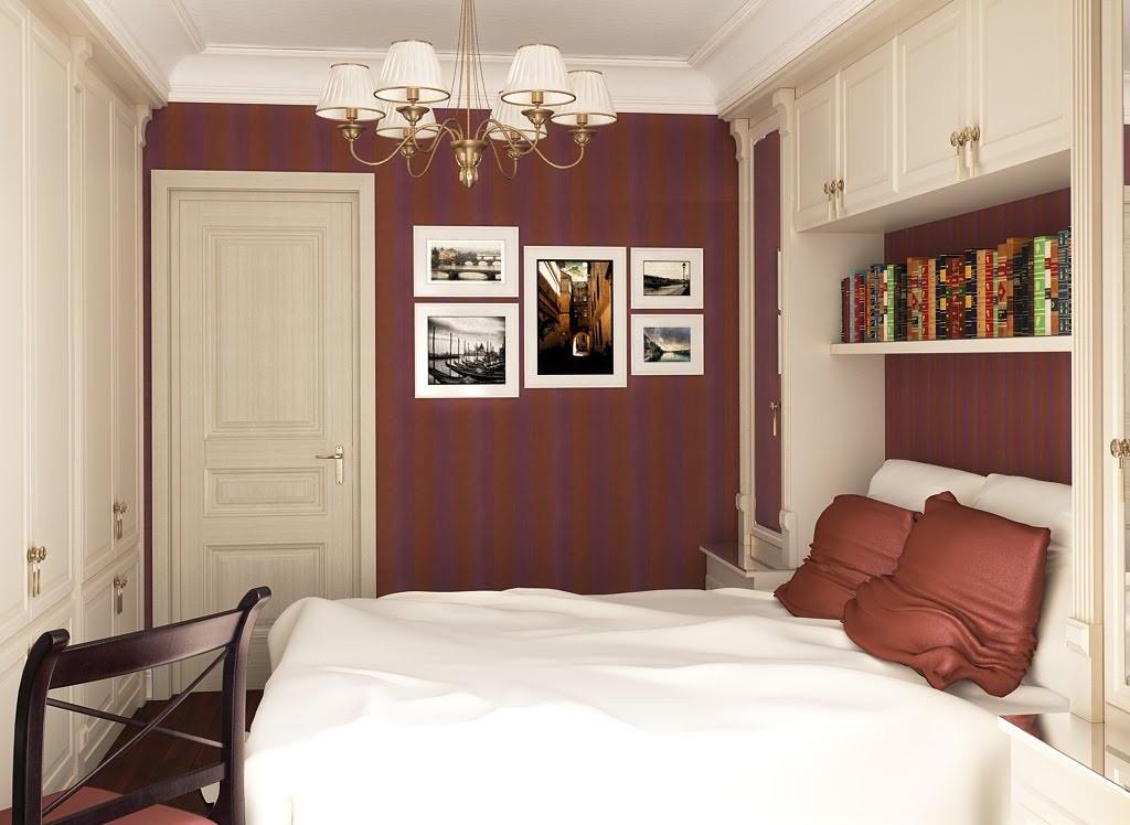 Дизайн интерьера для маленькой спальни фото