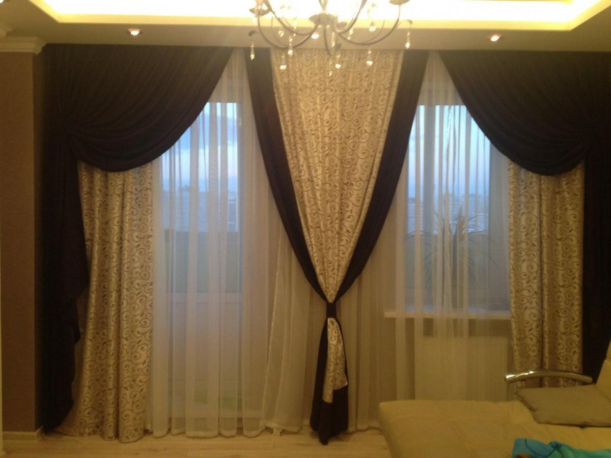 фото штор для зала с ламбрекеном