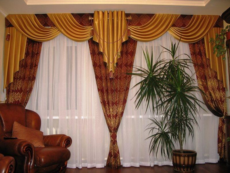 Классический стиль штор для зала (2)