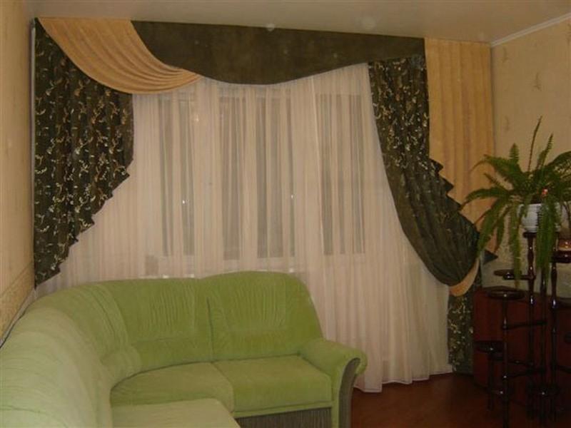 Дизайн штор в квартире фото
