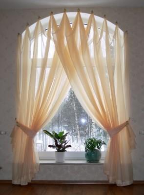 Натуральные шторы для зала (20)