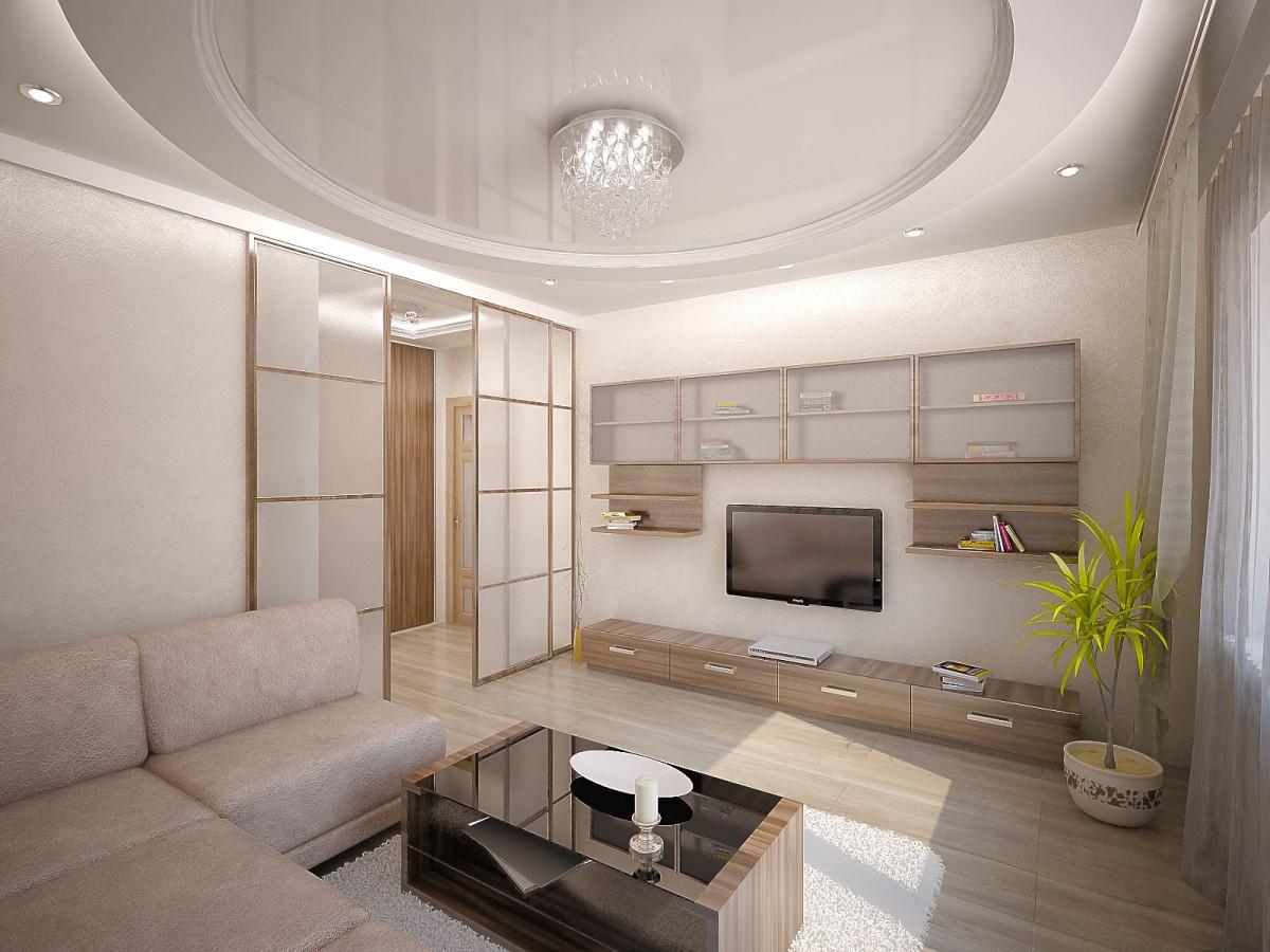Дизайн небольшого зала в частном доме