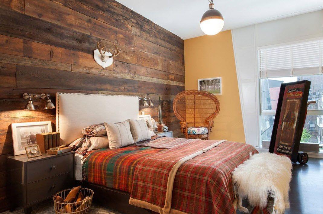 Фото дизайн спальни дерево