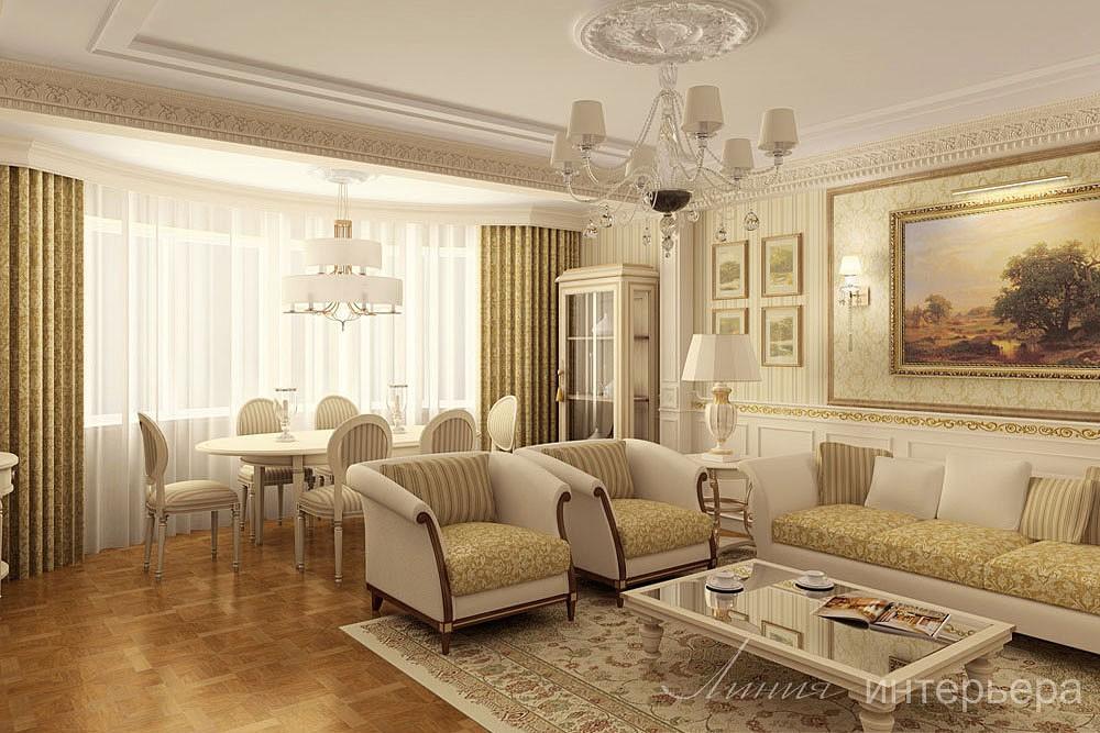 Фото гостиных в классическом стиле